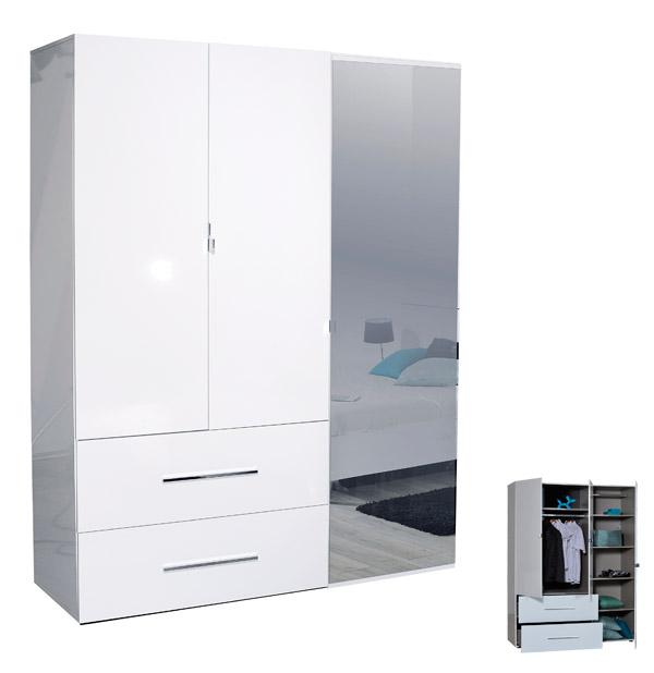 armoire pas cher first 3 portes avec miroire et tiroires marseille
