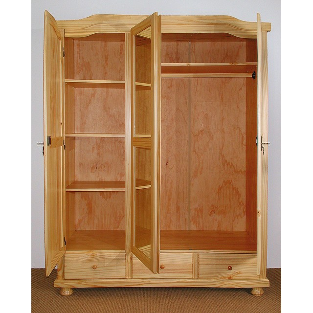 armoire pas cher davos 3 portes 3 tiroirs marseille entrepot de la literie. Black Bedroom Furniture Sets. Home Design Ideas