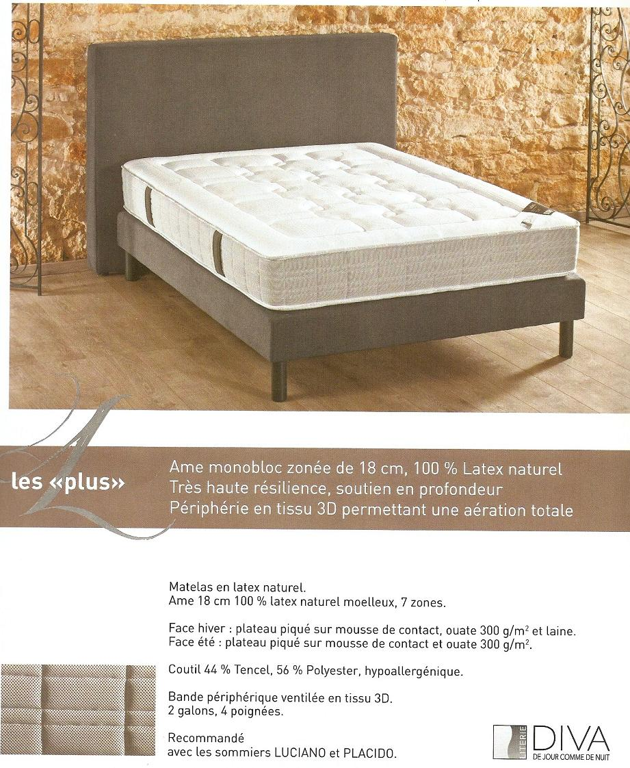 matelas 100 latex naturel luciana pas cher marseille entrepot de la literie. Black Bedroom Furniture Sets. Home Design Ideas