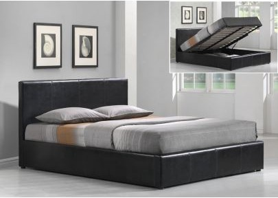 lit avec coffre de rangement 160x200. Black Bedroom Furniture Sets. Home Design Ideas